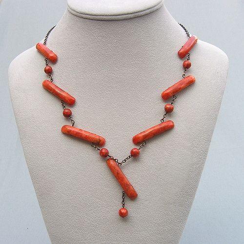 mořský korál náhrdelník
