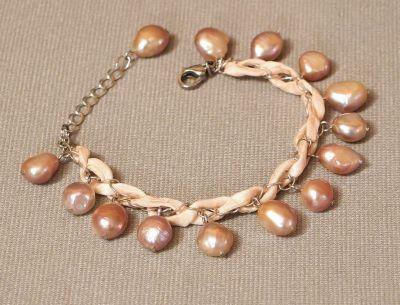 náramek s říčními perlami