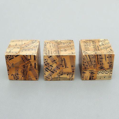 dřevěné dekorace vintage kostky