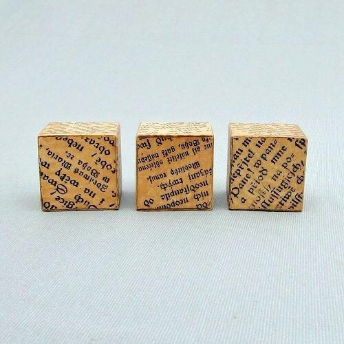 dřevěné dekorace kostky ve vintage stylu Miltika