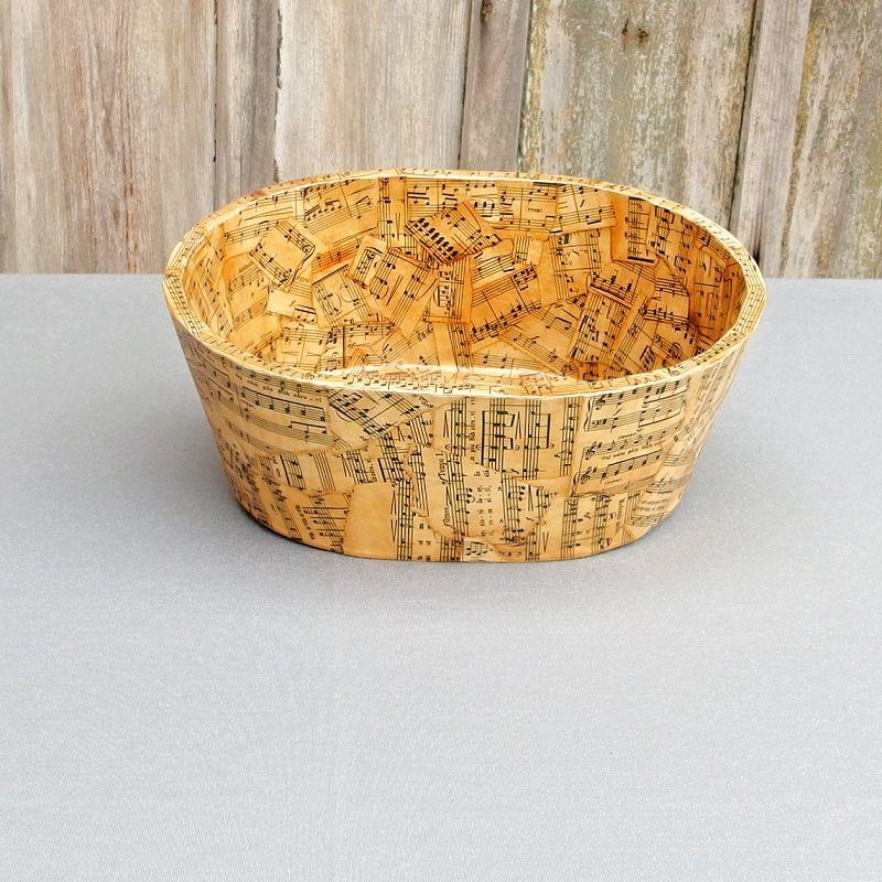 Dřevěný oválný box vintage styl