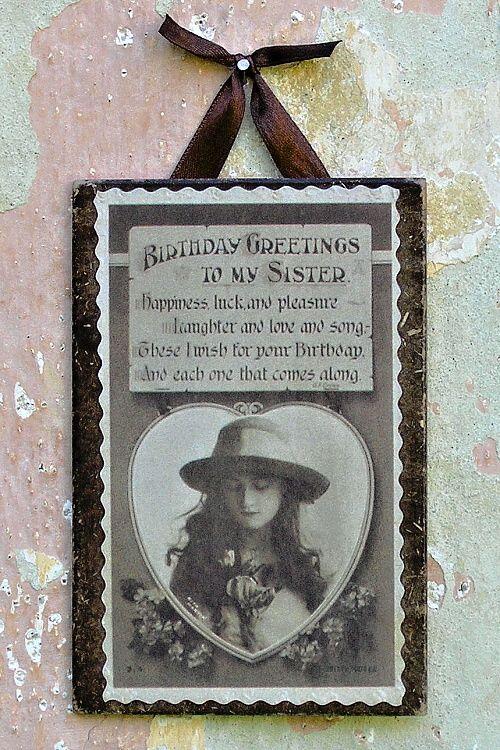 vintage obrázek přání