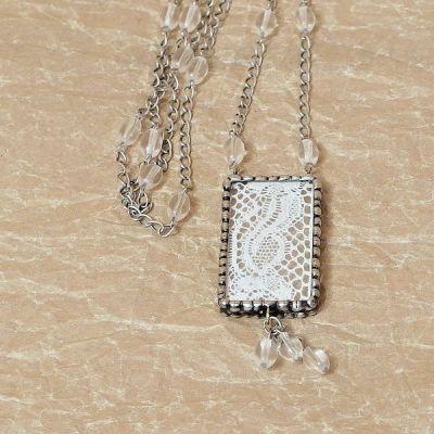 Dlouhý náhrdelník vintage styl