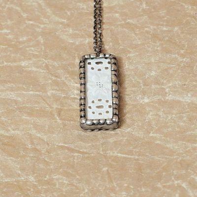 Cínovaný náhrdelník s krajkou